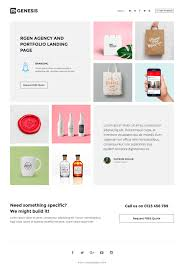 the u0027r gen agency landing page u0027 one page html template features a