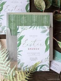 easter brunch invitations printable botanical easter brunch invitations