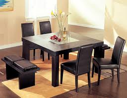 dining room table square rustic 9 pc square dining room table for