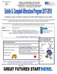 6 Flags Hours Boys U0026 Girls Clubs Of Western Pennsylvania Estelle S Campbell