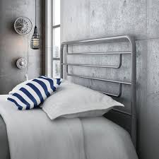 White Metal Headboard 28 Unique Metal Headboards That Are Well Worth Investing In