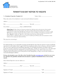 28 images of 60 day notice to landlord template infovia net