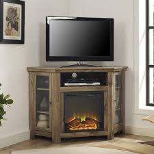 corner tv cabinet with electric fireplace found it at wayfair ca corner tv stand with electric fireplace