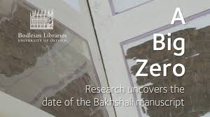 a big zero research uncovers the date of the bakhshali manuscript