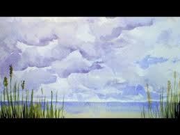 how to paint cumulus clouds in watercolor youtube