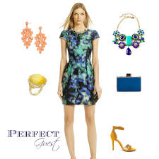 yellow dress for wedding wedding guest inspiration blue green and yellow aisle