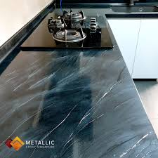 best epoxy paint for kitchen cabinets a beautiful metallic black marble design with silver