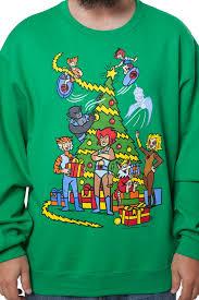 tree faux sweater