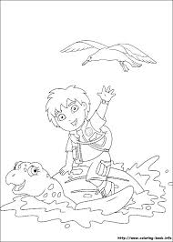diego coloring picture thema dora diego