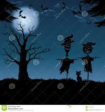 nasa halloween halloween landscape with scarecrows stock images image 34131224