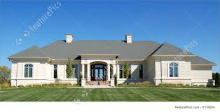 luxury ranch style home photo