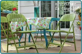 Blue Patio Furniture Sets - a thrifter in disguise diy metal folding patio chairs makeover