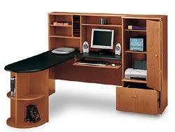 shaped computer desk