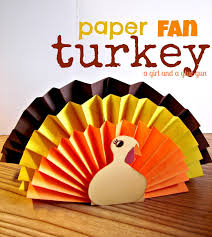 kid craft monday turkey thanksgiving fans and craft