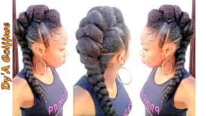 jumbo braids hairstyles pictures diy mohawk faux hawk style with a jumbo braid dy a youtube