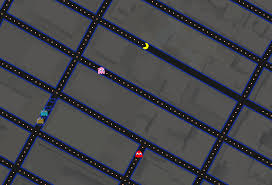 google turns google maps into a giant game of pac man