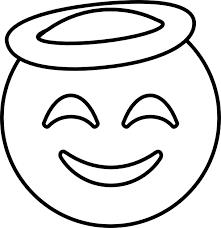emoji smiling face halo coloring pages emoji coloring