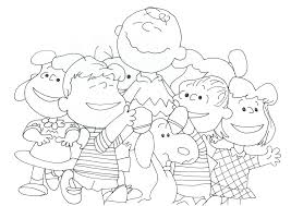 free charlie brown snoopy and peanuts coloring pages april 2016