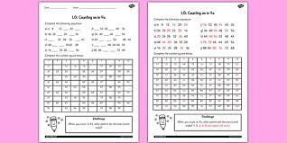 counting in 4s worksheet counting worksheet 4 numbers math