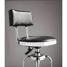 shop bar stool amazon com craftsman chrome and vinyl hydraulic stool