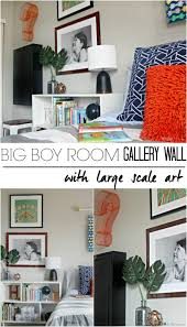 Gallery Wall Frames by Big Boy Room Choosing Large Scale Gallery Wall Art This Is Our