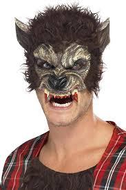 halloween costumes werewolf smiffys werewolf 22711 half face mask smiffys amazon co uk toys