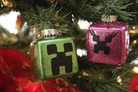 Diy Christmas Tree Decorations Youtube Minecraft Christmas Ornaments Creeper Couple Diy Youtube