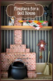 how to make a simple fireplace for a doll house