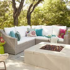 World Market Outdoor Pillows by Gray Veracruz Outdoor Sectional Sofa World Market
