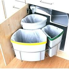 garbage can under the sink under sink trash can under sink trash can the counter garbage cans