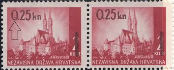 croatia 1942 provisional issue postage stamp world stamps project