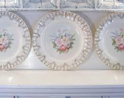 Decorative Hanging Plates Vintage Floral Plate Etsy
