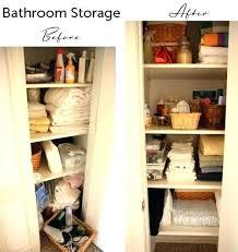 Bathroom Closet Shelves Bathroom Closet Shelves Bathroom Closet Storage More Organized