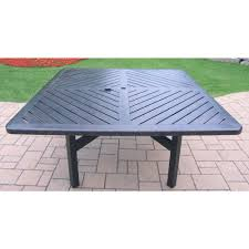 Patio Table Target Oakland Living Vanguard Aluminum Square Patio Dining Table Hd7817