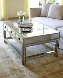 silver mirrored coffee table amelie mirrored coffee table devangbhuva me