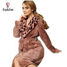 robe de chambre peluche femme chaud flanelle hiver peignoir femmes de nuit en peluche