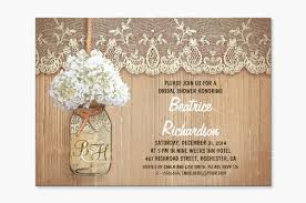 rustic bridal shower invitations read more jar with white flowers rustic bridal shower