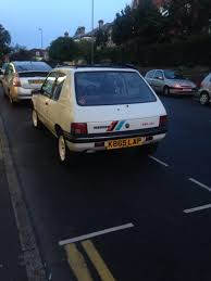 peugeot one saw this today peugeot 205 rallye only a 1 3 but it weighs less