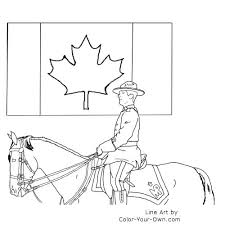 canada flag coloring page canada day mountie coloring page