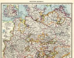 Alsace Lorraine Map Western Germany North 1908 Feefhs
