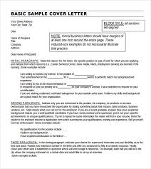 sample basic letter format 7 download documents in pdf word