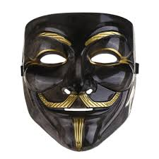 2017new v mask black mask vendetta with eyeliner nostril anonymous
