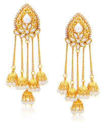 earrings images sukkhi gold plated alloy earrings buy sukkhi gold plated alloy