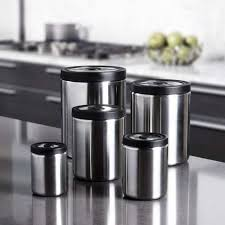 kitchen canisters stainless steel silver kitchen canisters decorative kitchen canisters gallery
