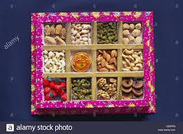 fruit gift boxes fruit gift box on diwali festival containing nuts and raisins