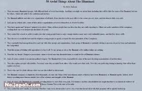 50 awful things about the illuminati gistmania