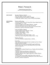 Sample Pastoral Resume by Church Secretary U003ca Href U003d