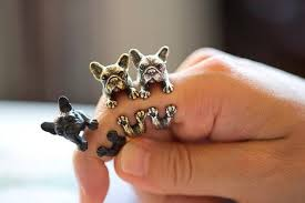 vintage animal ring holder images Online cheap 2016 retro animal handmade french bulldog ring ring jpg