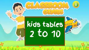 kids math tables up to 10 classroom genius learn multiplication