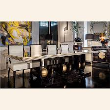 classic art deco dining table gold detailing taylor llorente